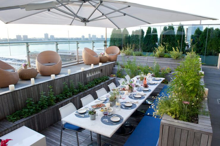 Print Restaurant Rooftop Garden At The Press Lounge