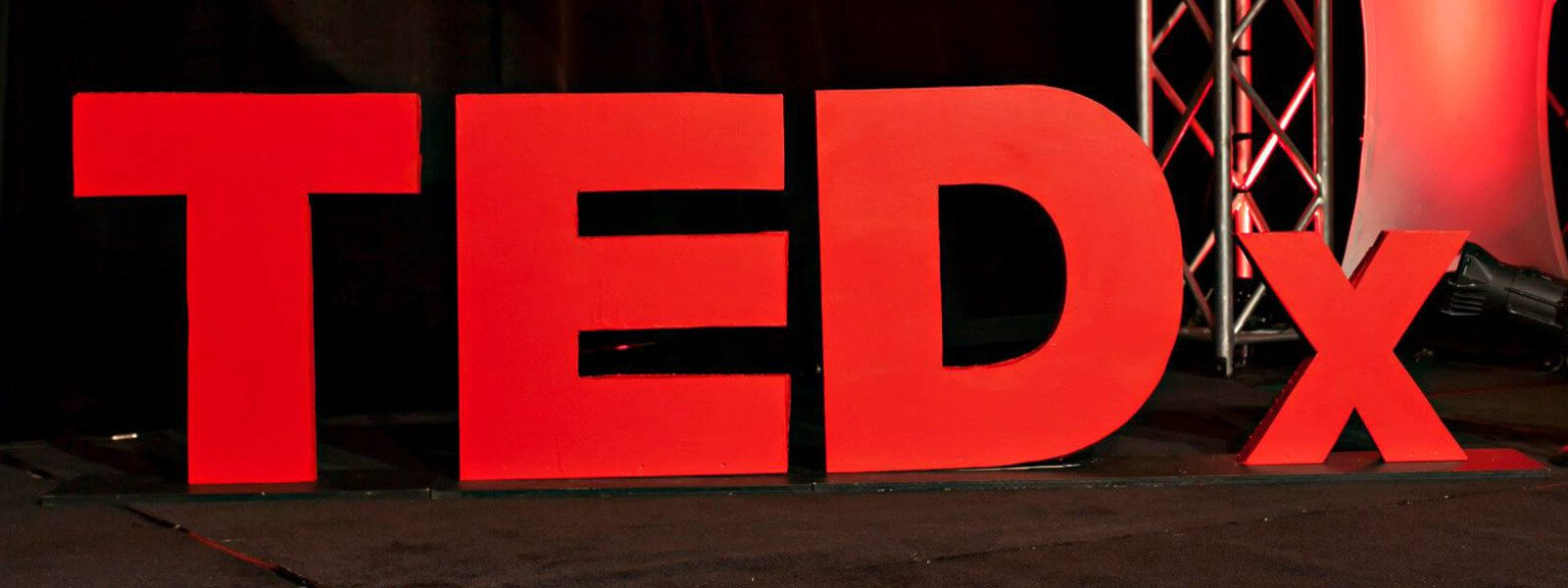 TEDx sign.