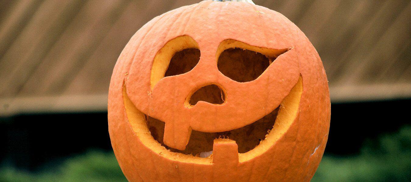 Carved Jack O'Lantern.