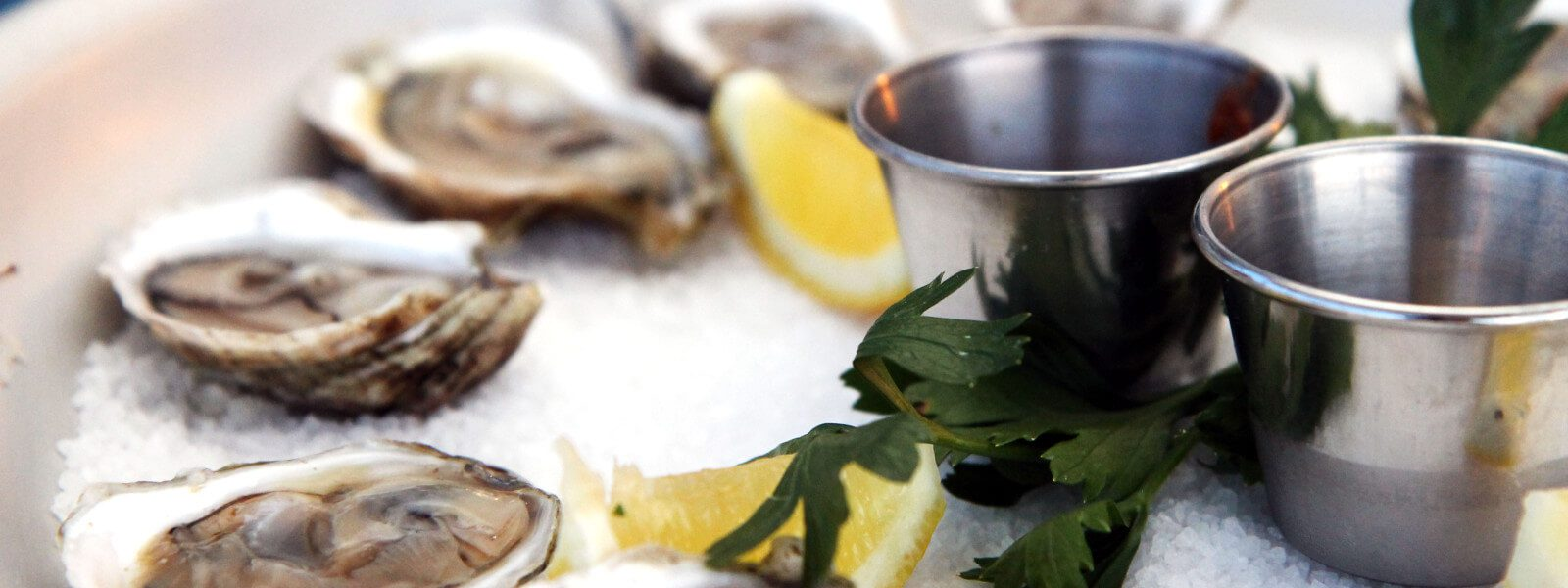 Oysters on the half-shell, yuzu mignonette.