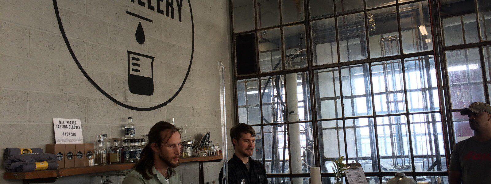 Industry City Distillery bar interior.