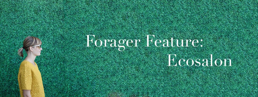 """Meghan in profile with text """"Forager Feature: Ecosalon."""""""