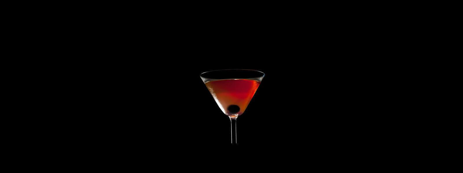 Smokey Manhattan cocktail.