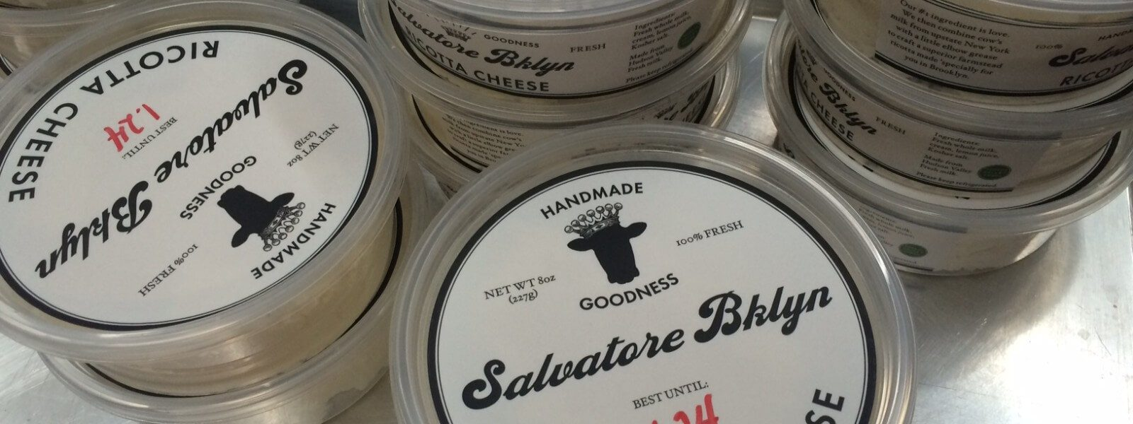 Containers of Salvatore Brooklyn ricotta.