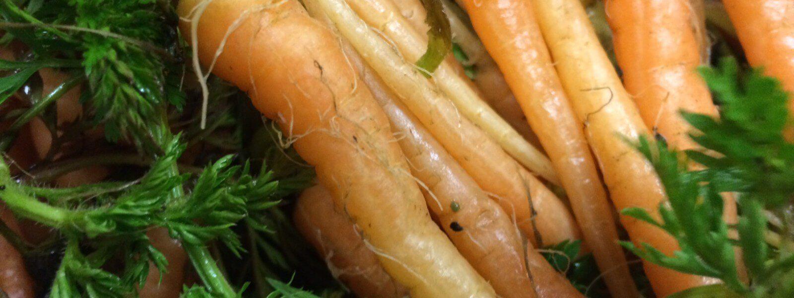 Orange carrots.