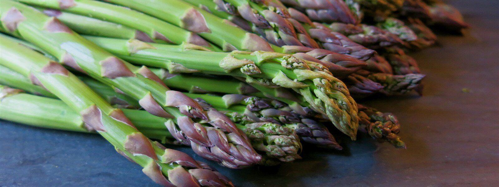 Asparagus spears.