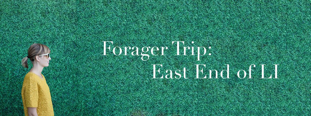 """Meghan in profile with text """"Forager Trip: East End of LI."""""""