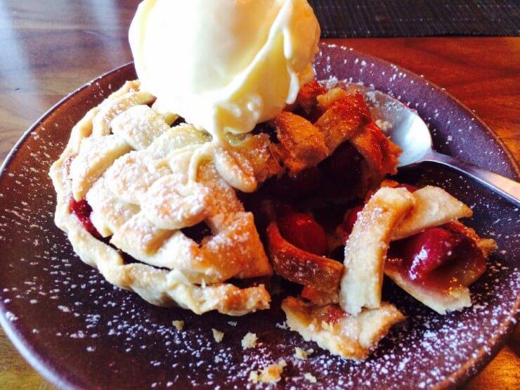Cherry Pie with Lattice Crust & Sour Cream Ice Cream.