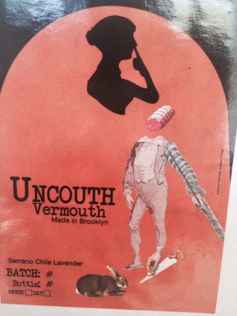 Label of Uncouth Vermouth.