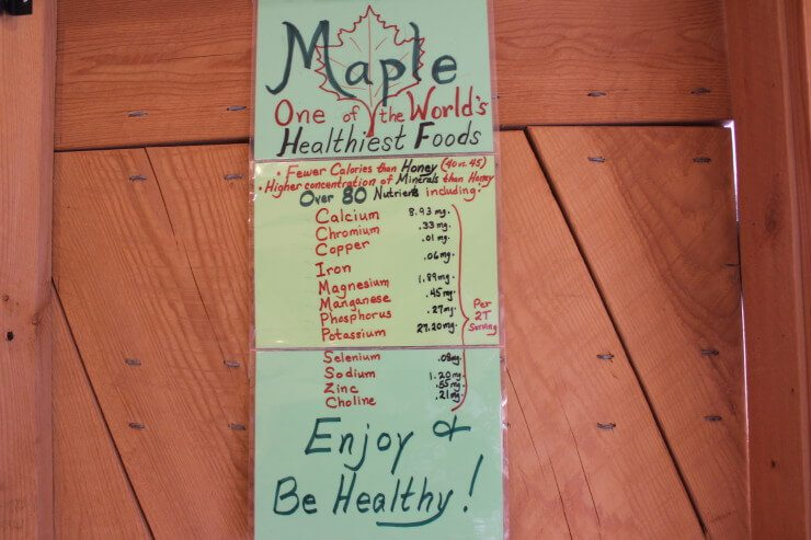 "Chart with ""Maple. One of the World's healthiest foods. Fever calories than honey, higher concentration of minerals than honey. Over 80 nutrients including calcium, chromium, copper, iron, magnesium, manganese, phosphorus, potassium, selenium, sodium, zinc, choline. Enjoy and be healthy!"""