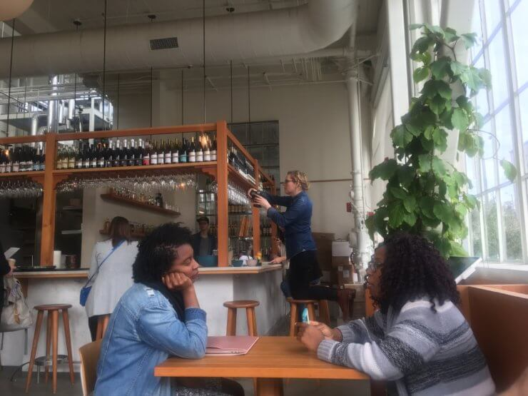 Diners at Tartine Manufactory.