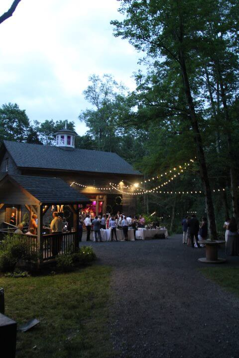 Meghan and Jeff's reception at The Roxbury Barn.