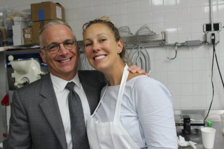 Adam Block and Megan Miller in the PRINT kitchen.