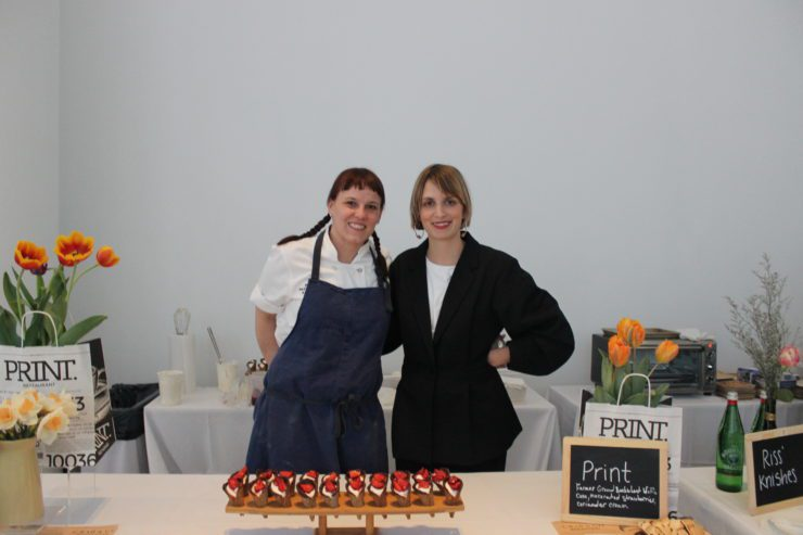 Chef Amy Hess and Forager Meghan Boledovich.