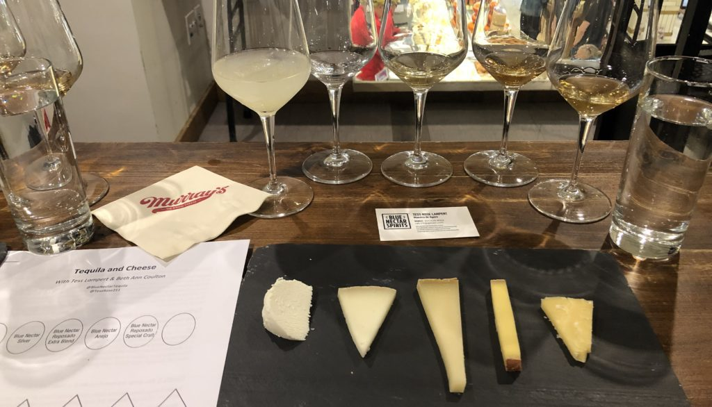 Tequila and cheese pairings at Murray's Cheese.