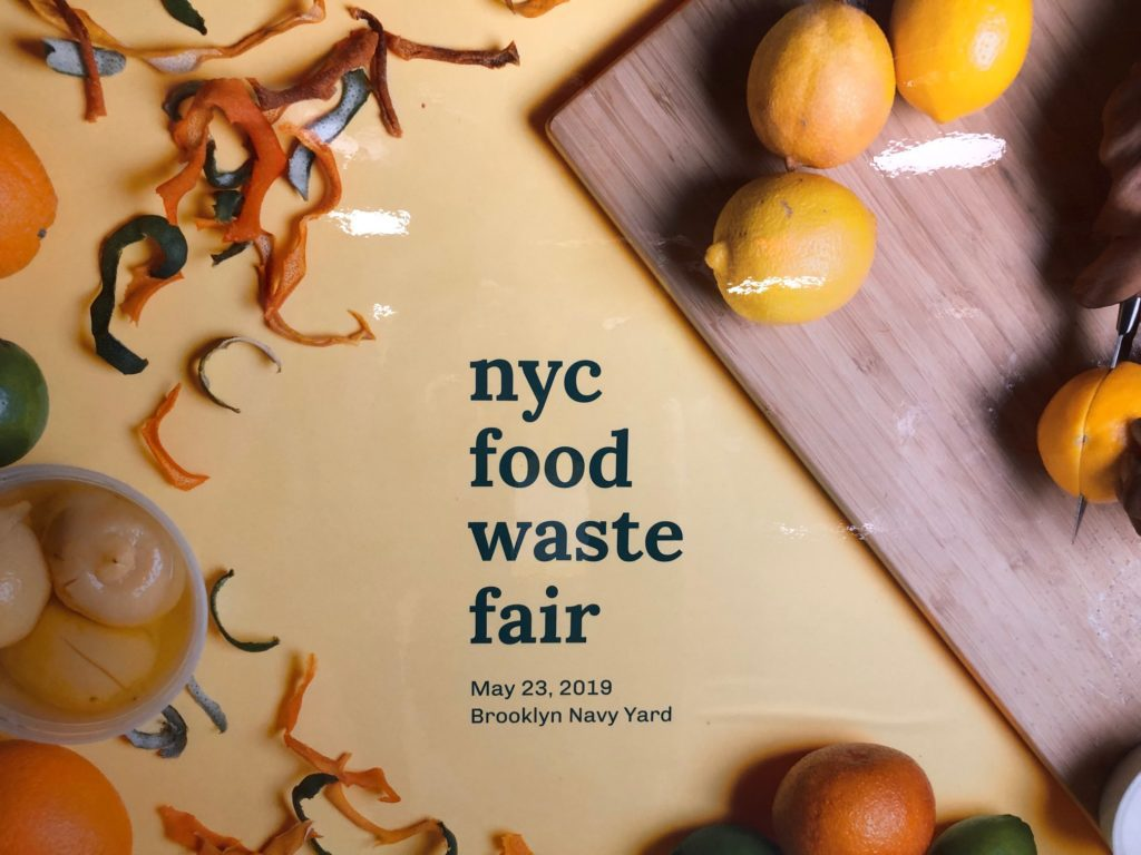NYC Food Waste Fair sign.