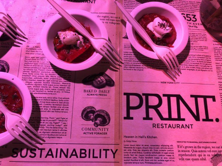 Individual servings of PRINT shashuka.
