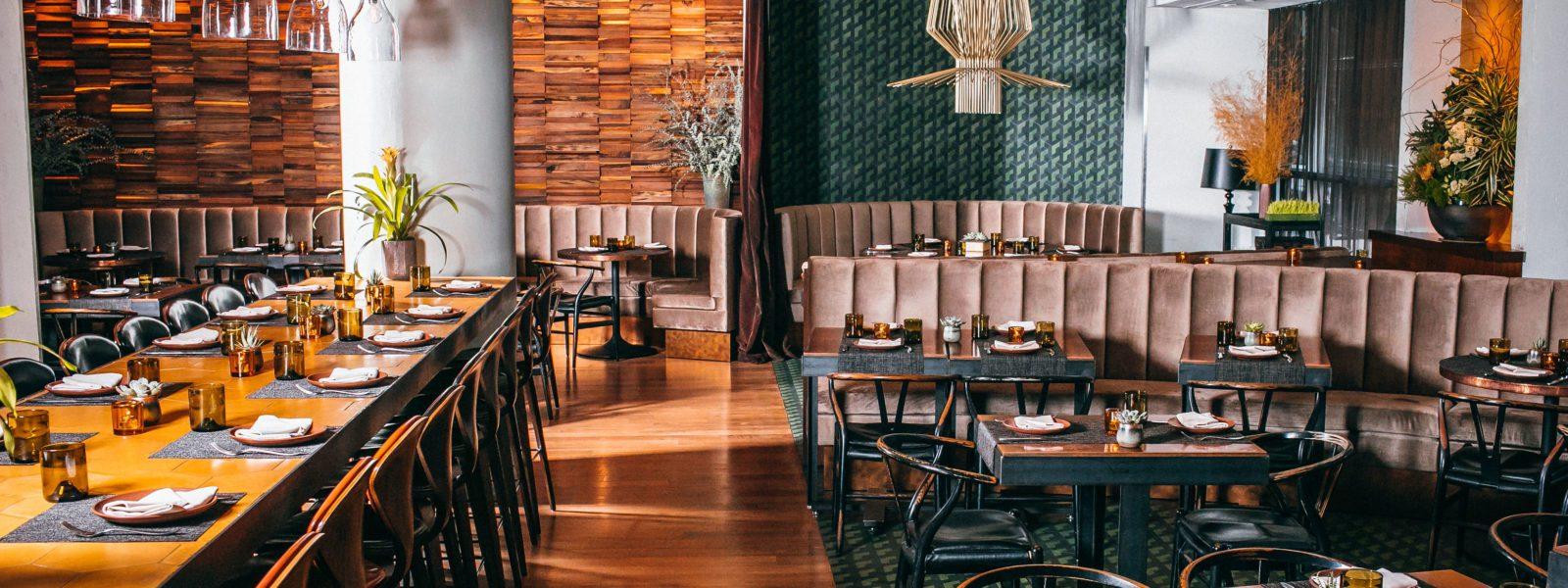 Restaurant interior showing architectural elements.