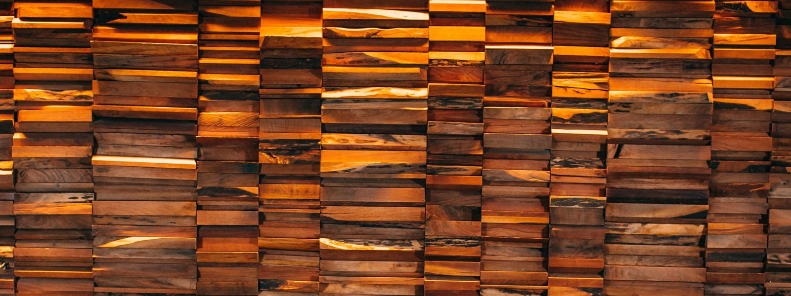 The reclaimed wood wall in the PRINT dining room.
